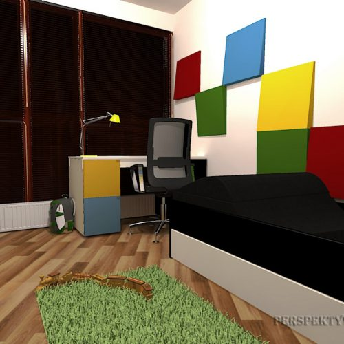 Perspektywa Studio-Projekt pokoju-Colour cubik 3