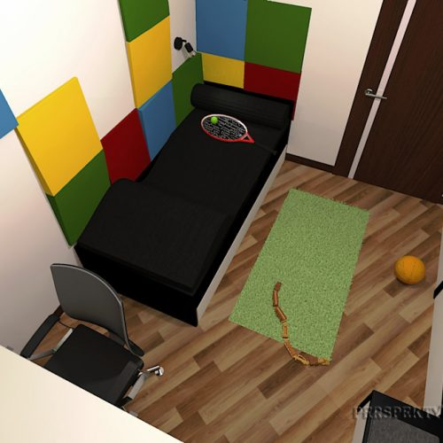 Perspektywa Studio-Projekt pokoju-Colour cubik 5