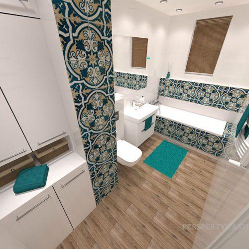 projekt-łazienki-projektowanie-wnętrz-lublin-perspektywa-studio-łazienka-biała-ozdobny-dekor-6m2-wanna-w-zabudowie-okno-Rozeta-3
