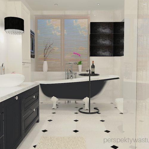 projekt-łazienki-projektowanie-wnętrz-lublin-perspektywa-studio-łazienka-czrno-biała-wanno-wolnostojąca-prysznic-bez-brodzika-pralka-i-suszarka-zień-Queensway-2