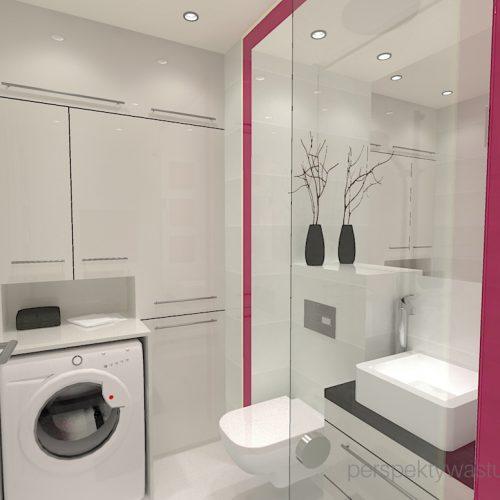 projekt-łazienki-projektowanie-wnętrz-lublin-perspektywa-studio-łazienka-nowoczesna-4-m2-biel-plus-różowy-lacobel-fuksja-prysznic-bez-brodzika-z-odwodnieniem-liniowym-wneki-Rosa-2