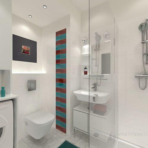 projekt-łazienki-projektowanie-wnętrz-lublin-perspektywa-studio-łazienka-nowoczesna-biała-kolorowy-dekor-4m2-płytki-brodzik-Vivida-2