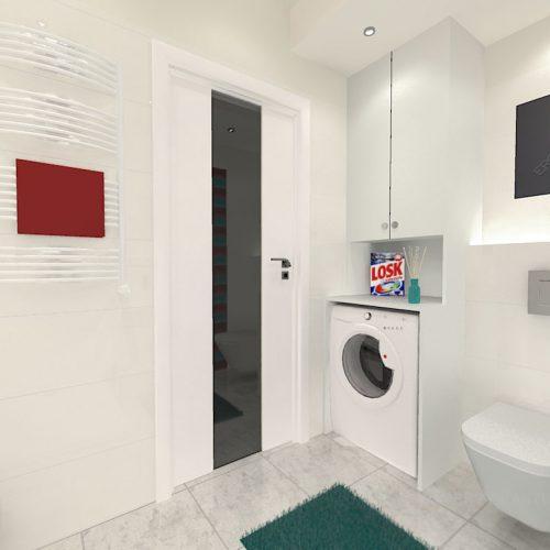 projekt-łazienki-projektowanie-wnętrz-lublin-perspektywa-studio-łazienka-nowoczesna-biała-kolorowy-dekor-4m2-płytki-brodzik-Vivida-4