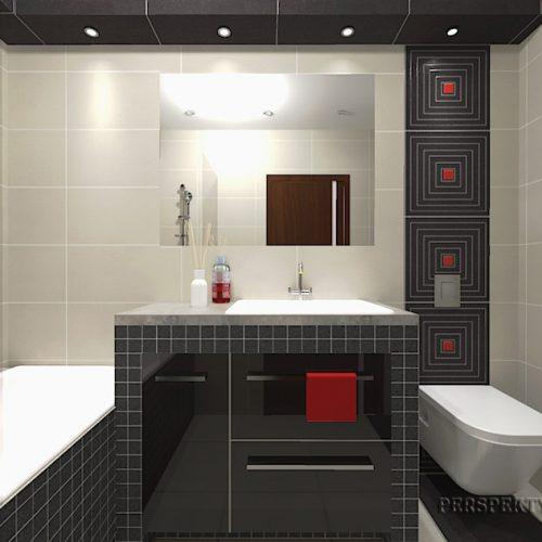 projekt-łazienki-projektowanie-wnętrz-lublin-perspektywa-studio-łazienka-nowoczesna-biały-czarny-czerwone-akcenty-4m2-wanna-w-zabudowie-Lavitas-1