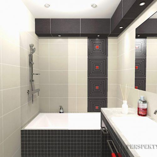 projekt-łazienki-projektowanie-wnętrz-lublin-perspektywa-studio-łazienka-nowoczesna-biały-czarny-czerwone-akcenty-4m2-wanna-w-zabudowie-Lavitas-5