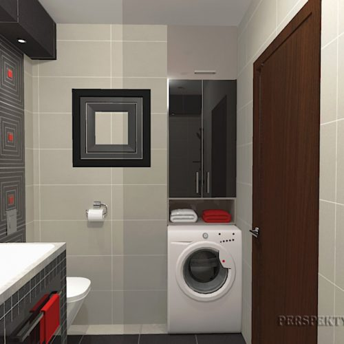 projekt-łazienki-projektowanie-wnętrz-lublin-perspektywa-studio-łazienka-nowoczesna-biały-czarny-czerwone-akcenty-4m2-wanna-w-zabudowie-Lavitas-6