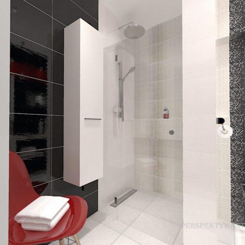 projekt-łazienki-projektowanie-wnętrz-lublin-perspektywa-studio-łazienka-nowoczesna-biały-czarny-czerwony-4m2-kabina-bez-brodzika-Vampa-2