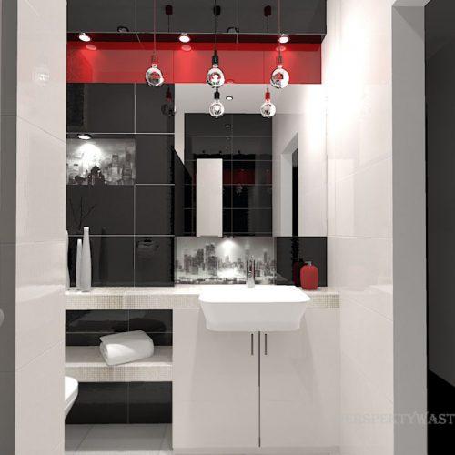 projekt-łazienki-projektowanie-wnętrz-lublin-perspektywa-studio-łazienka-nowoczesna-biały-czarny-czerwony-4m2-kabina-bez-brodzika-Vampa-3