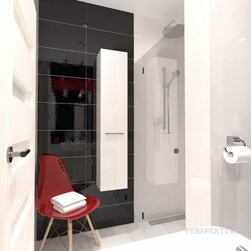 projekt-łazienki-projektowanie-wnętrz-lublin-perspektywa-studio-łazienka-nowoczesna-biały-czarny-czerwony-4m2-kabina-bez-brodzika-Vampa-5