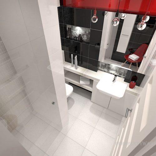 projekt-łazienki-projektowanie-wnętrz-lublin-perspektywa-studio-łazienka-nowoczesna-biały-czarny-czerwony-4m2-kabina-bez-brodzika-Vampa-7