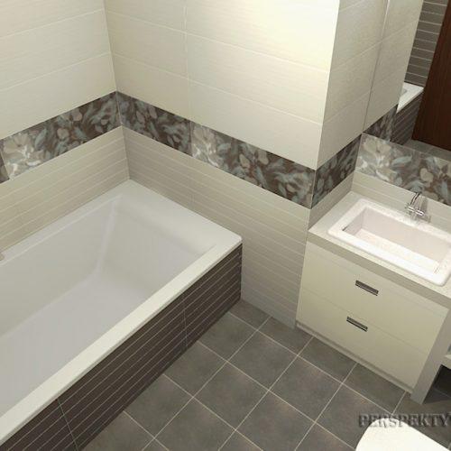 projekt-łazienki-projektowanie-wnętrz-lublin-perspektywa-studio-łazienka-nowoczesna-biel-brąz-6m2-wanna-w-zabudowie-kabina-z-brodzikiem-Pamesa-2