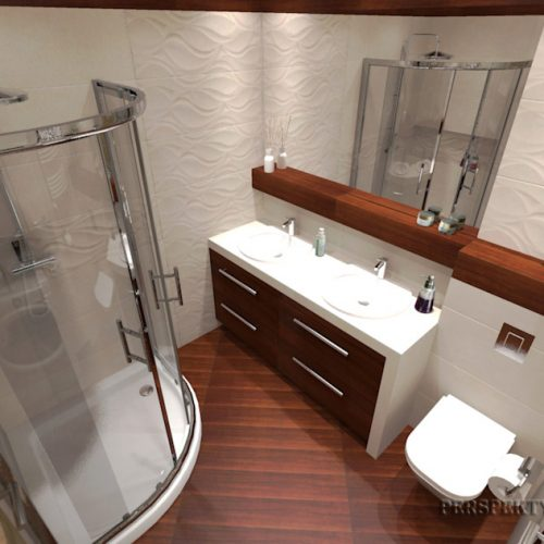 projekt-łazienki-projektowanie-wnętrz-lublin-perspektywa-studio-łazienka-nowoczesna-biel-drewno-5m2-dwie-umywalki-kabina-narożna-Rovere-6