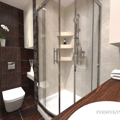 projekt-łazienki-projektowanie-wnętrz-lublin-perspektywa-studio-łazienka-nowoczesna-brązy-dekory-3m2-kabina-narożna-Floralstone-1