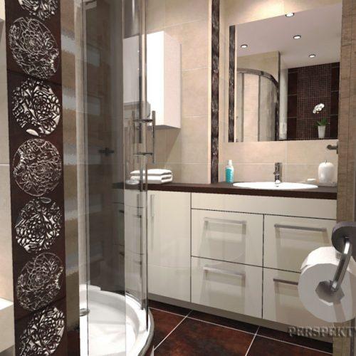 projekt-łazienki-projektowanie-wnętrz-lublin-perspektywa-studio-łazienka-nowoczesna-brązy-dekory-3m2-kabina-narożna-Floralstone-2