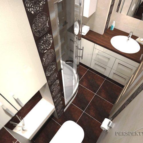 projekt-łazienki-projektowanie-wnętrz-lublin-perspektywa-studio-łazienka-nowoczesna-brązy-dekory-3m2-kabina-narożna-Floralstone-3