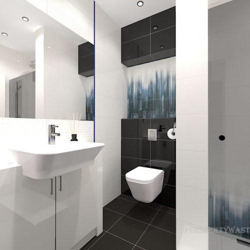 projekt-łazienki-projektowanie-wnętrz-lublin-perspektywa-studio-łazienka-nowoczesna-czarna-biała-dekor-4m2-prysznic-bez-brodzika-Sky-Tower-2