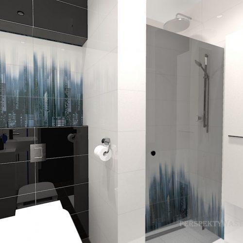 projekt-łazienki-projektowanie-wnętrz-lublin-perspektywa-studio-łazienka-nowoczesna-czarna-biała-dekor-4m2-prysznic-bez-brodzika-Sky-Tower-4