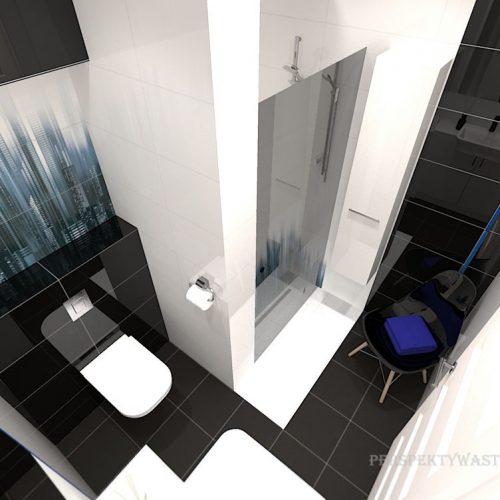 projekt-łazienki-projektowanie-wnętrz-lublin-perspektywa-studio-łazienka-nowoczesna-czarna-biała-dekor-4m2-prysznic-bez-brodzika-Sky-Tower-7