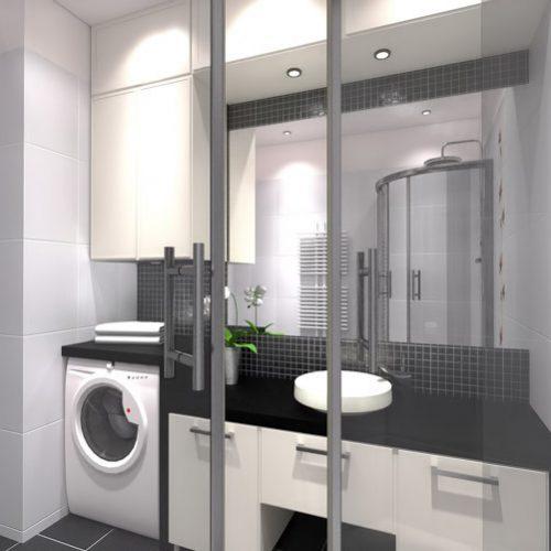 projekt-łazienki-projektowanie-wnętrz-lublin-perspektywa-studio-łazienka-nowoczesna-czarno-biała-motywy-kwiatowe-4m2-kabina-narożna-Black-&-White-4