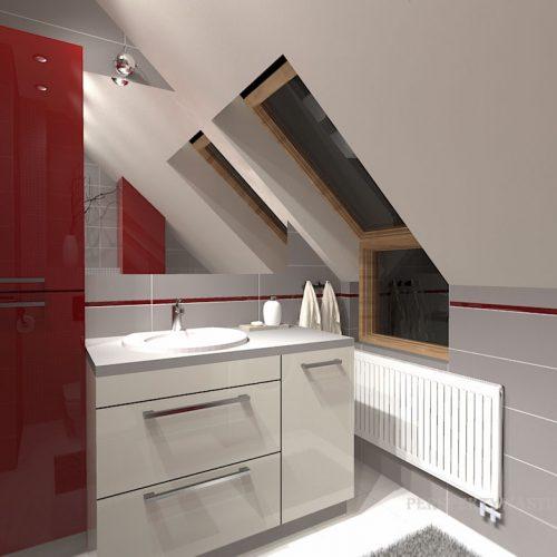 projekt-łazienki-projektowanie-wnętrz-lublin-perspektywa-studio-łazienka-nowoczesna-poddasze-sazrość-czerwień-5m2-lacobel-Midian-Purio-2