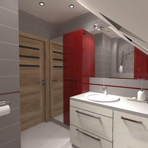 projekt-łazienki-projektowanie-wnętrz-lublin-perspektywa-studio-łazienka-nowoczesna-poddasze-sazrość-czerwień-5m2-lacobel-Midian-Purio-3