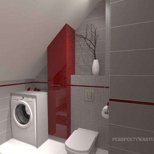 projekt-łazienki-projektowanie-wnętrz-lublin-perspektywa-studio-łazienka-nowoczesna-poddasze-sazrość-czerwień-5m2-lacobel-Midian-Purio-4