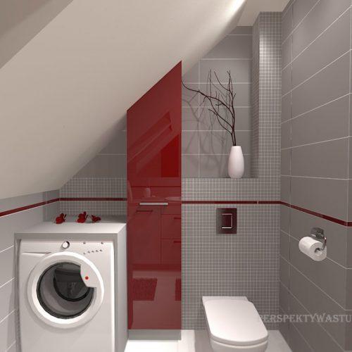 projekt-łazienki-projektowanie-wnętrz-lublin-perspektywa-studio-łazienka-nowoczesna-poddasze-sazrość-czerwień-5m2-lacobel-Midian-Purio-5