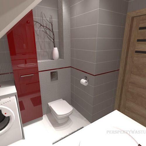 projekt-łazienki-projektowanie-wnętrz-lublin-perspektywa-studio-łazienka-nowoczesna-poddasze-sazrość-czerwień-5m2-lacobel-Midian-Purio-6