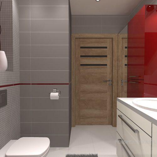 projekt-łazienki-projektowanie-wnętrz-lublin-perspektywa-studio-łazienka-nowoczesna-poddasze-sazrość-czerwień-5m2-lacobel-Midian-Purio-7