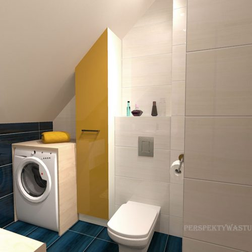 projekt-łazienki-projektowanie-wnętrz-lublin-perspektywa-studio-łazienka-nowoczesna-poddasze-żółty-granatowy-mała-toaleta-4m2-Vicenza-Yellow-43
