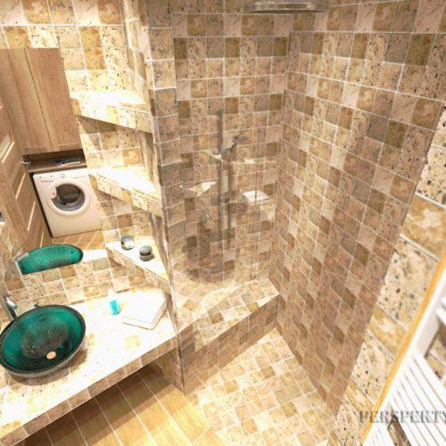 projekt-łazienki-projektowanie-wnętrz-lublin-perspektywa-studio-łazienka-nowoczesna-trawertyn-4m2-bez-brodzika-umywalka-stawiana-na-blat-Trawertyn-6