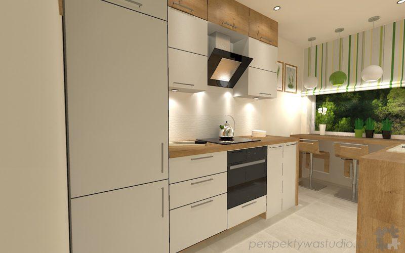 projekt-kuchni-projektowanie-wnętrz-lublin-perspektywa-studio-kuchnia-mała-7m2-z-mijscem-do-jedzenia-tv-w-kuchni-Kwiat-paproci-4