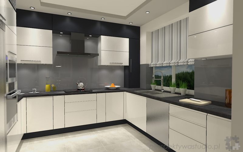 projekt-kuchni-projektowanie-wnętrz-lublin-perspektywa-studio-kuchnia-minimalistyczna-nowoczesna-fronty-bez-uchwytów-W-czarnej-obwódce-3