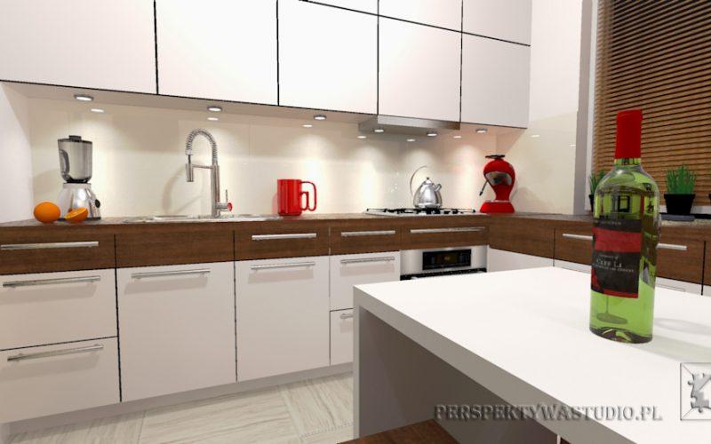 projekt-kuchni-projektowanie-wnętrz-lublin-perspektywa-studio-kuchnia-nowoczesna-białe-fronty-lakierowane-i-drewno-Kasztanowa-aleja-1