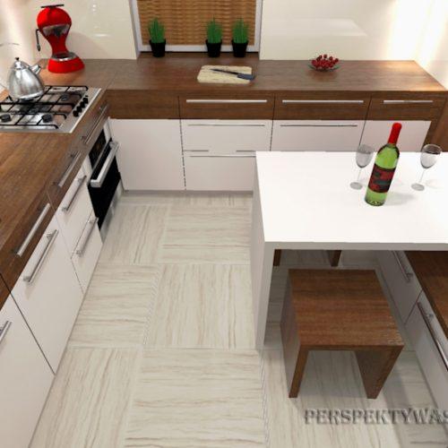 projekt-kuchni-projektowanie-wnętrz-lublin-perspektywa-studio-kuchnia-nowoczesna-białe-fronty-lakierowane-i-drewno-Kasztanowa-aleja-2