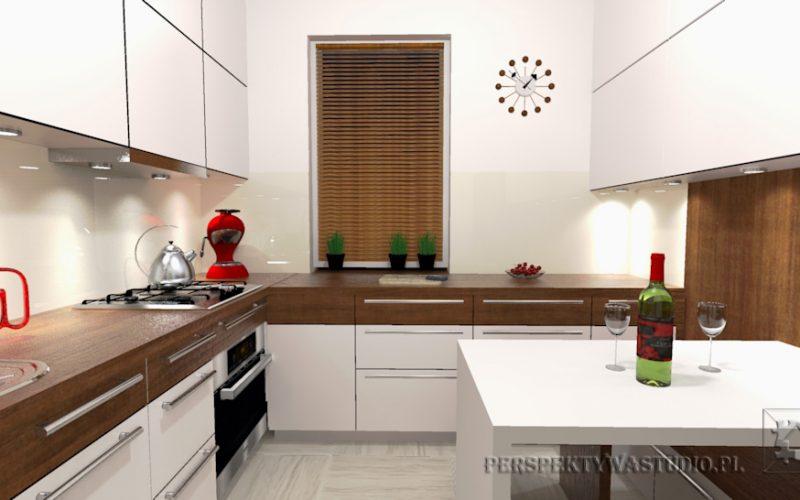 projekt-kuchni-projektowanie-wnętrz-lublin-perspektywa-studio-kuchnia-nowoczesna-białe-fronty-lakierowane-i-drewno-Kasztanowa-aleja-3