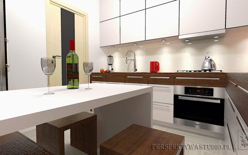 projekt-kuchni-projektowanie-wnętrz-lublin-perspektywa-studio-kuchnia-nowoczesna-białe-fronty-lakierowane-i-drewno-Kasztanowa-aleja-6