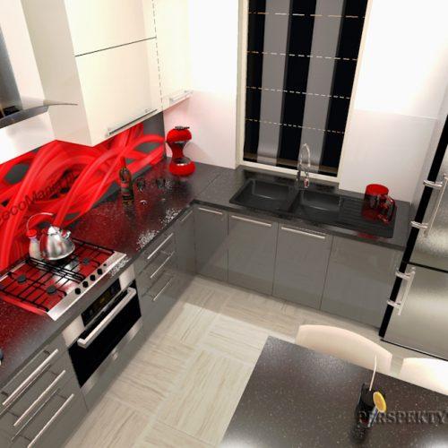 projekt-kuchni-projektowanie-wnętrz-lublin-perspektywa-studio-kuchnia-nowoczesna-cerwone-fronty-lakierowane-nadruk-na-szkle-Czerwona-wstęga-3