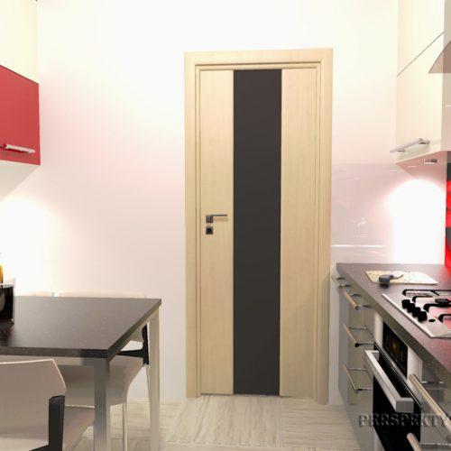 projekt-kuchni-projektowanie-wnętrz-lublin-perspektywa-studio-kuchnia-nowoczesna-cerwone-fronty-lakierowane-nadruk-na-szkle-Czerwona-wstęga-5