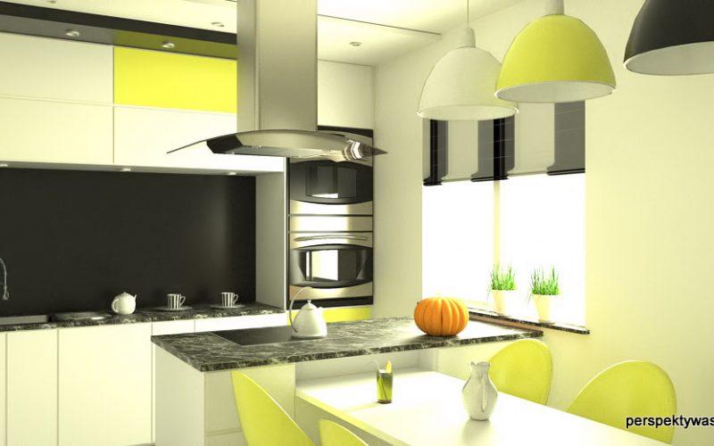 projekt-kuchni-projektowanie-wnętrz-lublin-perspektywa-studio-kuchnia-nowoczesna-czarny-lacobel-Pumpkin-Jellow-1