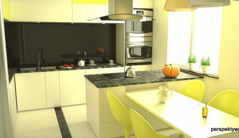 projekt-kuchni-projektowanie-wnętrz-lublin-perspektywa-studio-kuchnia-nowoczesna-czarny-lacobel-Pumpkin-Jellow-4