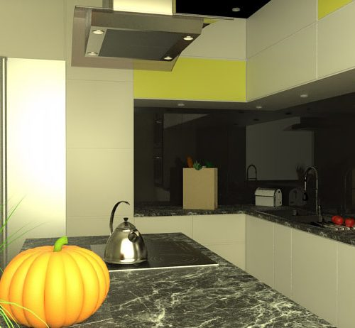projekt-kuchni-projektowanie-wnętrz-lublin-perspektywa-studio-kuchnia-nowoczesna-czarny-lacobel-Pumpkin-Jellow-5
