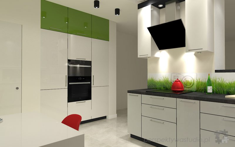 projekt-kuchni-projektowanie-wnętrz-lublin-perspektywa-studio-kuchnia-nowoczesna-lodówka-side-by-side-barek-wysoki-piekarnik-Makowa-panienka-4