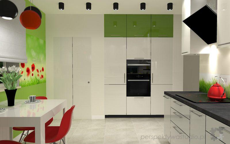 projekt-kuchni-projektowanie-wnętrz-lublin-perspektywa-studio-kuchnia-nowoczesna-lodówka-side-by-side-barek-wysoki-piekarnik-Makowa-panienka-5