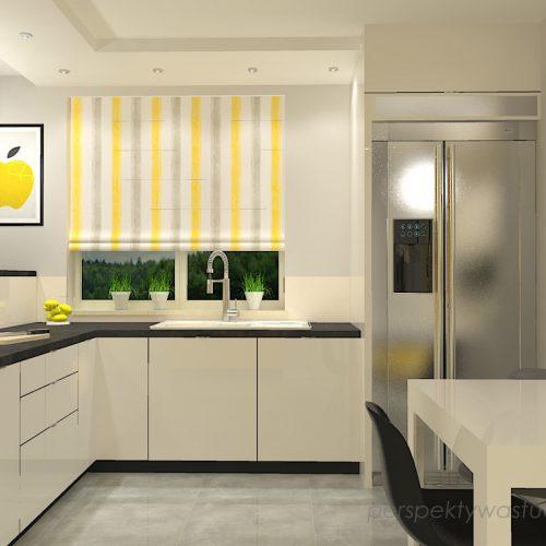 projekt-kuchni-projektowanie-wnętrz-lublin-perspektywa-studio-kuchnia-nowoczesna-z-żółtym-fronty-lakierowane-połysk-lodówka-side-by-side-Kosztela-1
