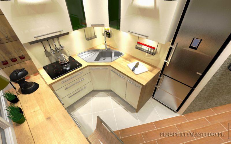 projekt-kuchni-projektowanie-wnętrz-lublin-perspektywa-studio-kuchnia-nowoczesna-z-jadalnią-okno-zlewozmywak-narożny-Mglisty-las-2