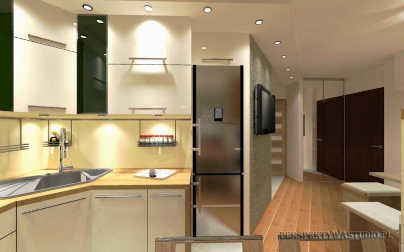 projekt-kuchni-projektowanie-wnętrz-lublin-perspektywa-studio-kuchnia-nowoczesna-z-jadalnią-okno-zlewozmywak-narożny-Mglisty-las-4