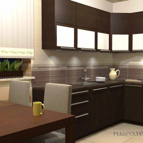projekt-kuchni-projektowanie-wnętrz-lublin-perspektywa-studio-kuchnia-tradycyjna-fronty-drewniane-Czekolada-96%-1