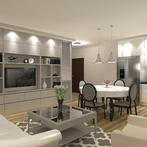 projekt-kuchni-salonu-projektowanie-wnętrz-lublin-perspektywa-studio-kuchnia-klasyczna-angielska-lodówka-side-by-side-salon-meblościanka-jadalnia-Sielsko-angielsko-1