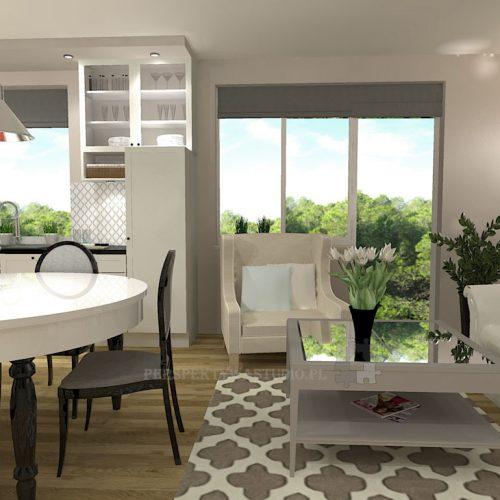 projekt-kuchni-salonu-projektowanie-wnętrz-lublin-perspektywa-studio-kuchnia-klasyczna-angielska-lodówka-side-by-side-salon-meblościanka-jadalnia-Sielsko-angielsko-6